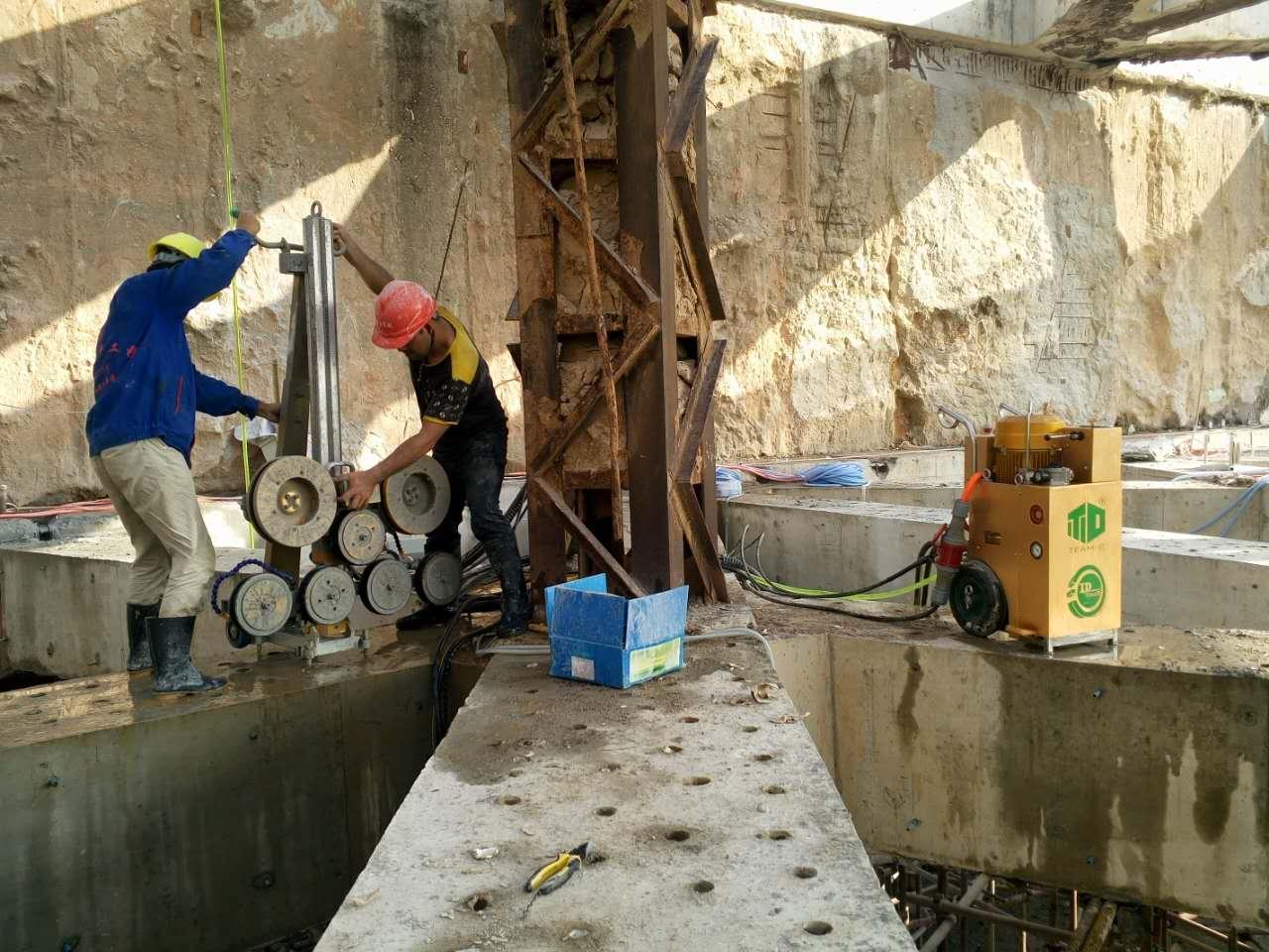 太原隧道支撑梁切割|支撑梁绳锯拆除工程案例